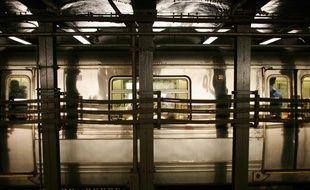 Une rame de métro new-yorkais.