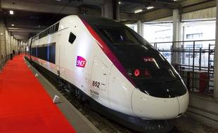 Le nouveau TGV de la SNCF. AFP PHOTO / GEOFFROY VAN DER HASSELT