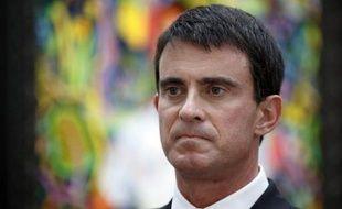 Le Premier ministe Manuel Valls à la FIAC le 22 octobre 2014 à Paris