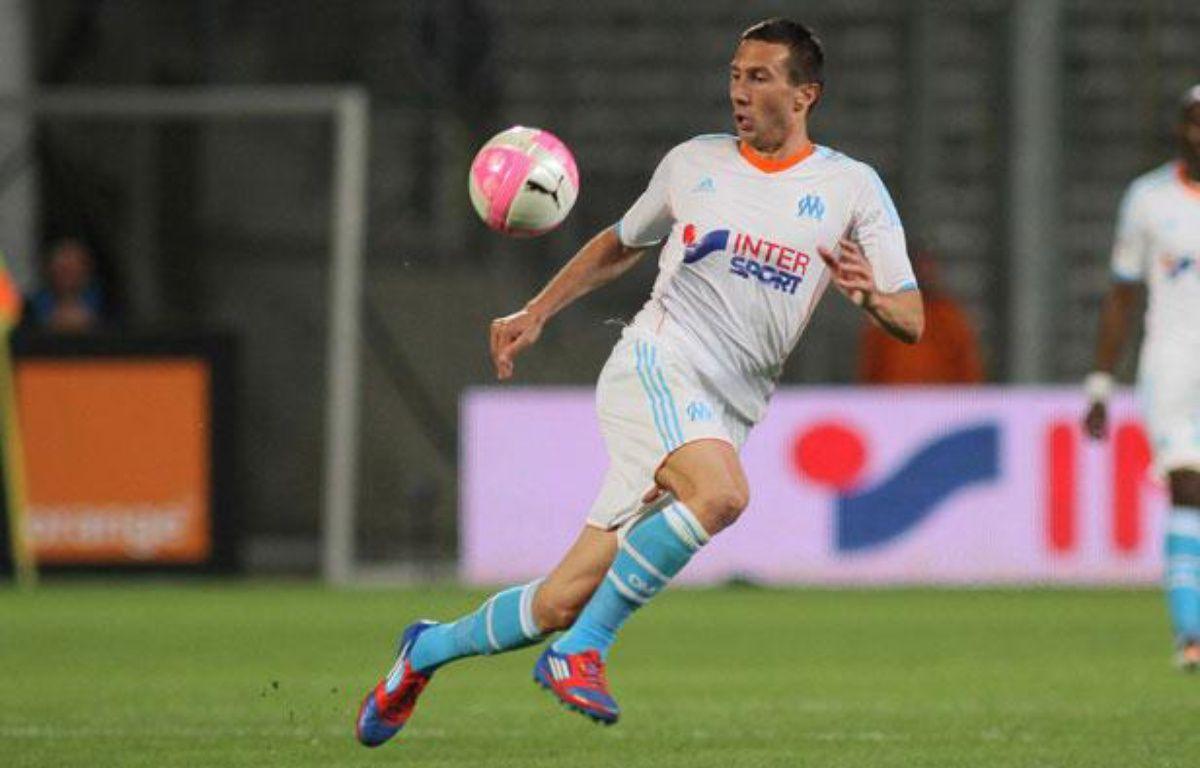 L'ailier international Morgan Amalfitano, le 13 mai 2012 au Stade Vélodrome (Marseille). – K.Villalonga/SIPA