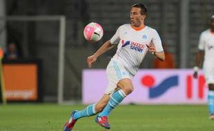 L'ailier international Morgan Amalfitano, le 13 mai 2012 au Stade Vélodrome (Marseille).