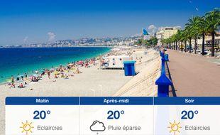 Météo Nice: Prévisions du mercredi 3 juin 2020