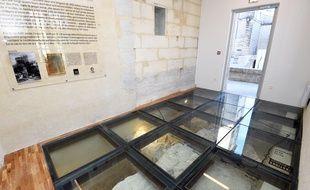 Les vestiges de l'Agora sont désormais visibles via un sol en verre.