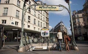 Une bouche de métro à Paris. (Illustration)