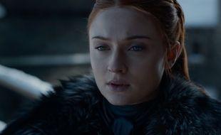L'actrice Sophie Turner sous les traits de Sansa Stark dans Game of Thrones