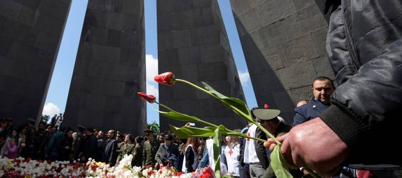 Commémoration du génocide arménien à Erevan, le 24 avril  2019.