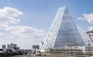 Le projet de la Tour Triangle à Paris, imaginé par les architectes suisses Herzog & de Meuron.