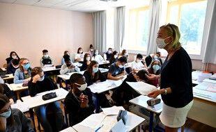 Une classe de lycée à Rennes (image d'illustration).