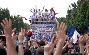 En 1998, les Bleus ont descendus les Champs-Elysées.