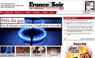 Le site de France Soir jeudi 5 juillet 2012.