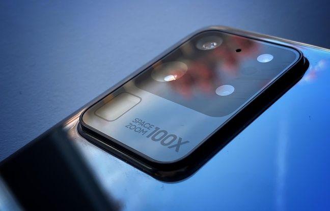 Le Galaxy S20 Ultra et son module photo principal de 108 mégapixels.