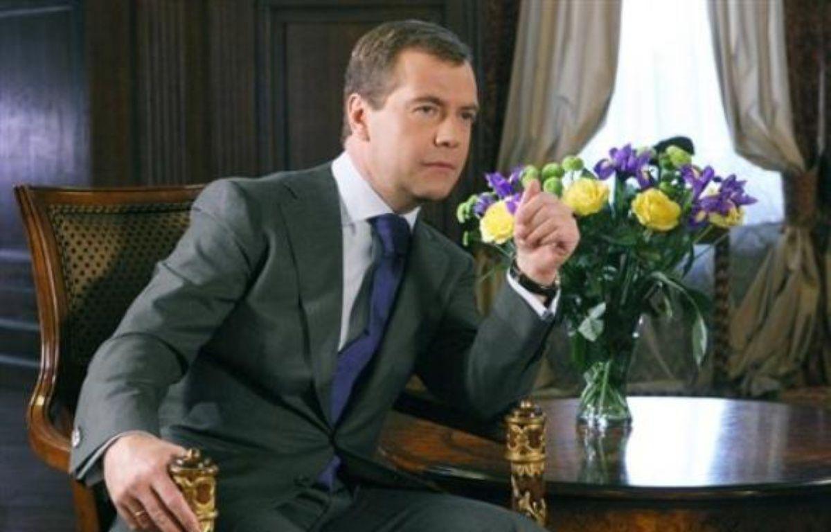 Le président russe Dmitri Medvedev a reconnu dimanche l'existence de meurtres à caractère politique dans son pays, après une série d'assassinats non élucidés notamment de journalistes. – Vladimir Rodionov AFP