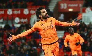 Mohammed Salah sous le maillot de Liverpool.