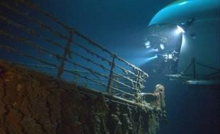 """Extrait du film """"Ghost of the abyss"""" sur le Titanic."""