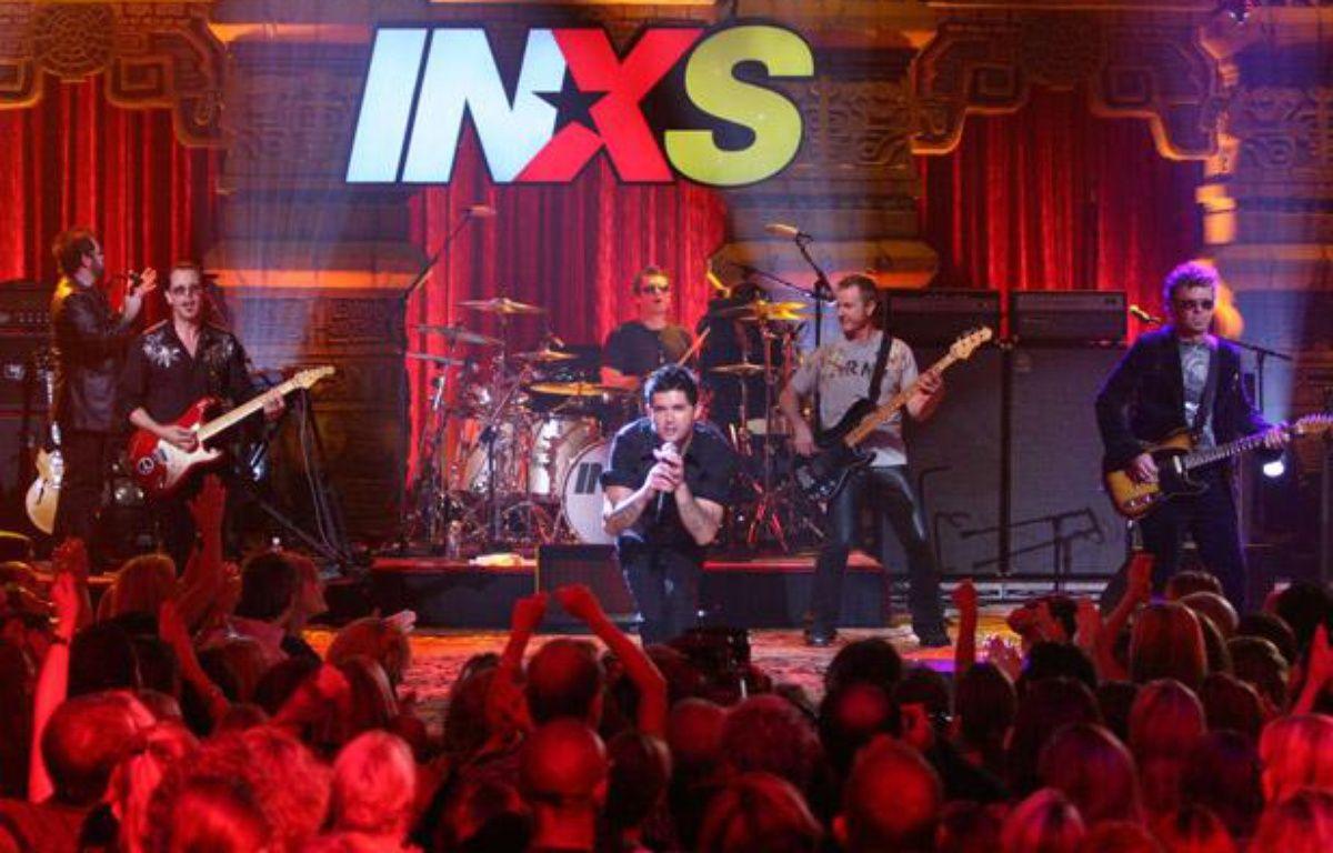 Le groupe de rock australien INXS sur scène à Los Angeles en 2005. – MONTY BRINTON/AP/SIPA