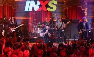 Le groupe de rock australien INXS sur scène à Los Angeles en 2005.