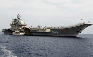 L'unique porte-avions de la Marine russe l'Amiral Kouznetsov. (image d'illustration)