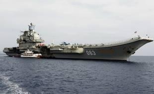 Le porte-avions de la Marine russe l'Amiral Kouznetsov qui fait route vers la Syrie.