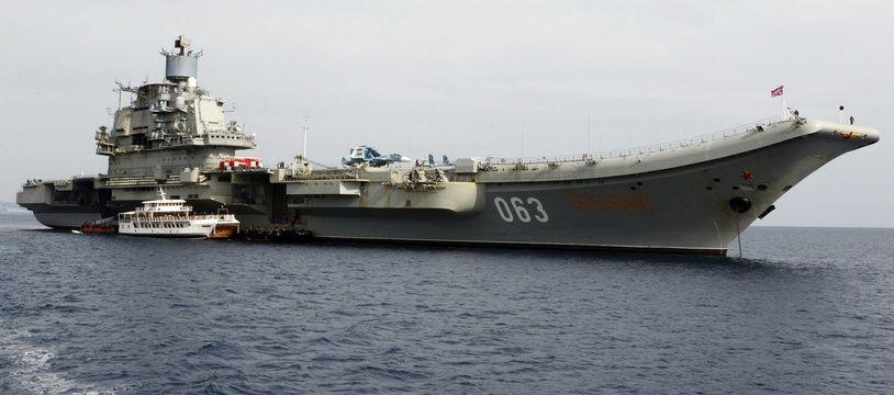 L'unique porte-avions de la Marine russe l'Amiral Kouznetsov (illustration).