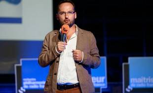 Joël Ronez, directeur nouveaux médias de Radio France et du Mouv', à la Maison de la radio, à Paris, le 28 août 2013.