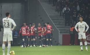 Le PSG a lourdement perdu à Lille (5-1), en Ligue 1, le 14 avril 2019.