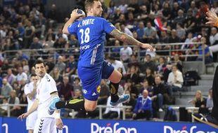 Valentin Porte lors de France-Serbie en Golden League, le 3 janvier 2020.