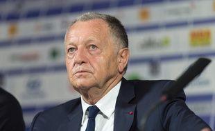 Jean-Michel Aulas, ici lors d'une conférence de presse en juin dernier à Lyon. ROMAIN LAFABREGUE