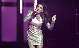 Jenifer lors d'un concert à Nice, en mars 2019.