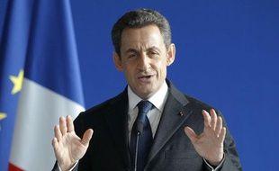 Nicolas Sarkozy, lors d'un discours sur Jeanne d'Arc à Domrémy, le 6 janvier 2012.