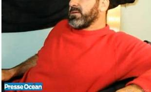 Eric Cantona lors d'un entretien à Presse Océan, le 8 octobre 2010.