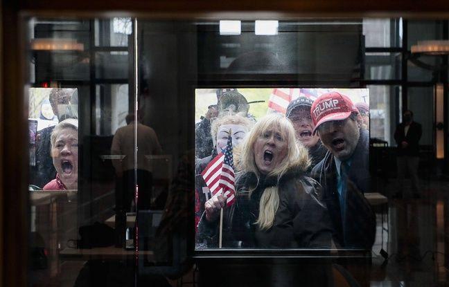 Des manifestants anti-confinement dans l'Ohio, le 16 avril 2020.
