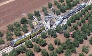 L'accident de train s'est produit mardi matin, dans la région des Pouilles.