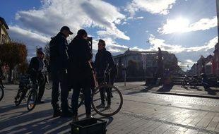 Une opération de contrôle des vélos en guise de prévention organisée à Strasbourg ce lundi.
