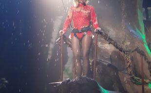 Britney Spears en concert à Las Vegas en octobre 2015.