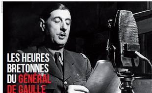 Général de Gaulle, Juin 1940 (double page du magazine Bretons)