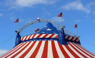 Un chapiteau de cirque. Illustration.