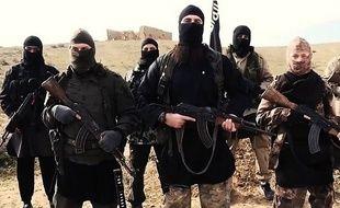 Des combattants de Daesh dans une vidéo de propagande de février 2015.