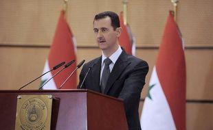 Bachar el Assad le 20 juin 2011 à damas, en Syrie.