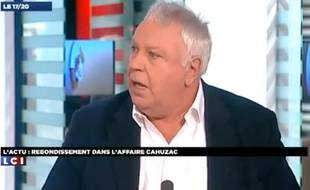 Le socialiste Gérard Filoche, le 2 avril 2013, sur LCI.