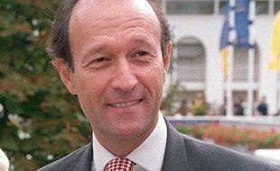 Thierry Gaubert, ancien conseiller de Nicolas Sarkozy, lors du prix hippique de l'Arc de triomphe, le 3 octobre 1999 à Paris.