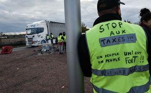 Un gilet jaune ici mobilisé à Bordeaux