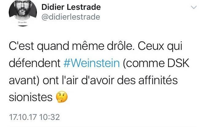 Le tweet de Didier Lestrade qui a mis le feu à Twitter le 17 octobre 2017