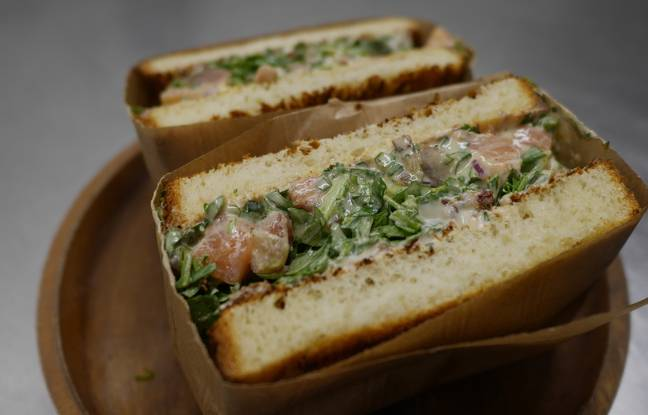 Le sandwich au tartare de truite de Mokoloco