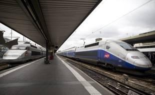 Le 13 juin 2013. Les agents SNCF lancent un mouvement de greve qui touche les TGV, RER et TER. Plus de la moitie des trains ne circulent pas ce jeudi sur les reseaux TGV et TER. Les syndicats denoncent le projet de reorganisation de la SNCF et les suppressions de postes.  // PHOTO : V. WARTNER / 20 MINUTES