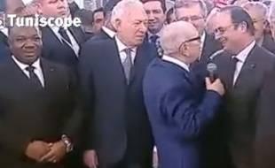 Le président tunisien et le chef d'Etat français