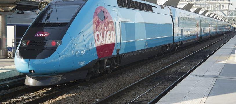 Le train TGV Ouigo en gare de Lyon à Paris (image d'illustration).