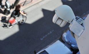 Illustration camera et zone de vidéosurveillance dans le centre ville de Toulouse, dans le quartier Victor-Hugo.