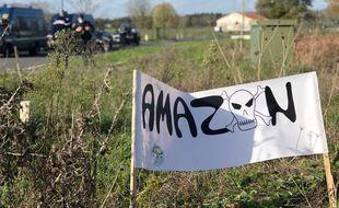 Illustration en Loire-Atlantique où Amazon projette d'installer un gros entrepôt à Montbert en Loire-Atlantique