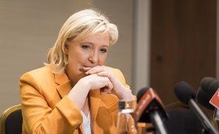 Marine Le Pen, le 20 mars 2016 lors d'une conférence de presse à Québec