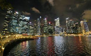 La skyline de Singapour, le 4 mars 2016